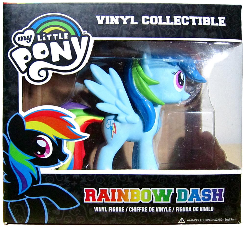 Funko vinyl Rainbow Dash pakkaus edestä